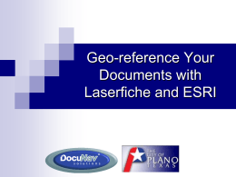 Georeference Your Documents with Lasefiche and ESR