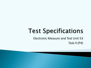 Test-Specifications