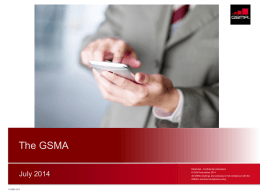 GSMA and Digital Commerce Overview