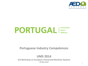 Portuguese Industry Experience and Competences in UAV for