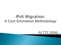 IPv6 Migration: A cost estimate Methodology