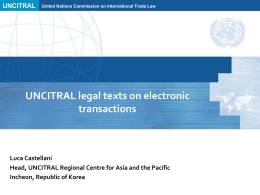 UNCITRAL legal texts on electronic transactions – Luca