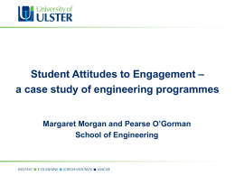 Student attitudes to engagement - a case study of engineering