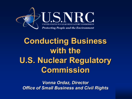 How to Conduct Business with the Nuclear Regulatory Commission