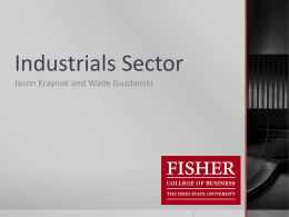 Industrials - Fisher College of Business