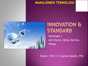 Innovation & Standard-Case Study