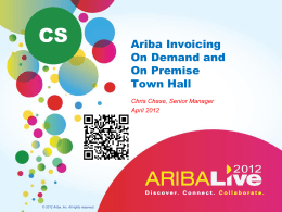 Invoice - Ariba Exchange
