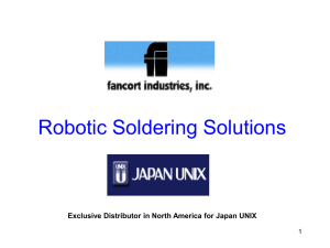 Robotic Soldering Systems