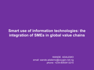 the integration of SMEs in global value chains by