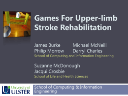 Computer games for rehabilitation
