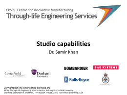 - Through-life Engineering Services