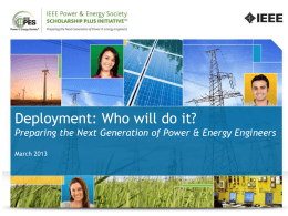 IEEE PES Scholarship Plus Initiative