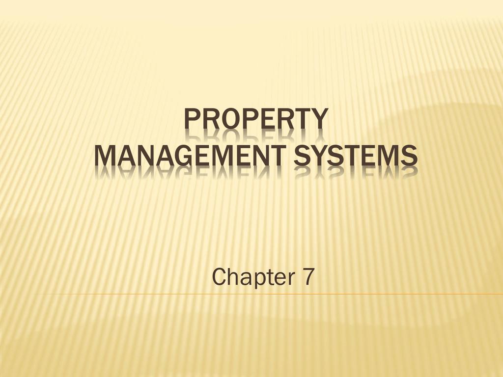 Chapter 7 - HFT 3444