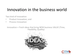 What is Innovation in the business world
