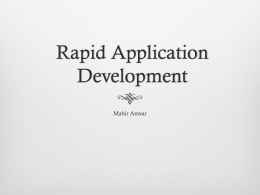 RAD, Rapid Application Development