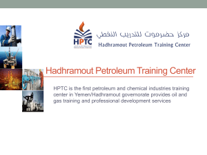 Hadhramout Petroleum Training Center 2015