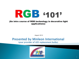 RGB Basics - Minleon USA