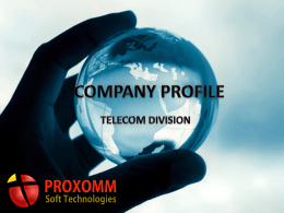 Slide 1 - Proxomm Soft Technologies Pvt. Ltd.