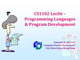 cs1102_12B_lec07 - Department of Computer Science