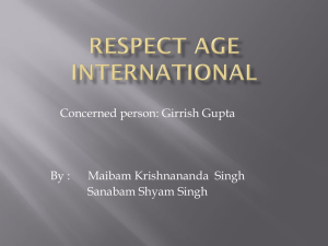 RESPECT AGE INTERNATIONAL