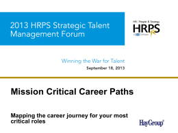 Mission Critical Career Paths