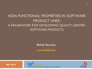 Non-functional Properties in Software Product Lines: A Framework
