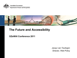 Accessibility and the Future