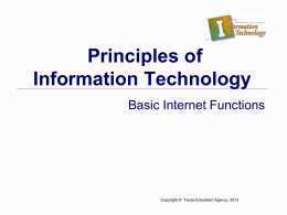 Basic Internet Functions