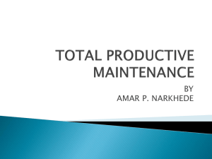 total productive maintenance ppt