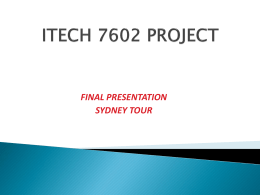 ITECH 7602 PROJECT final presentation