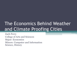 The Economics Behind Weather Proofing Cities