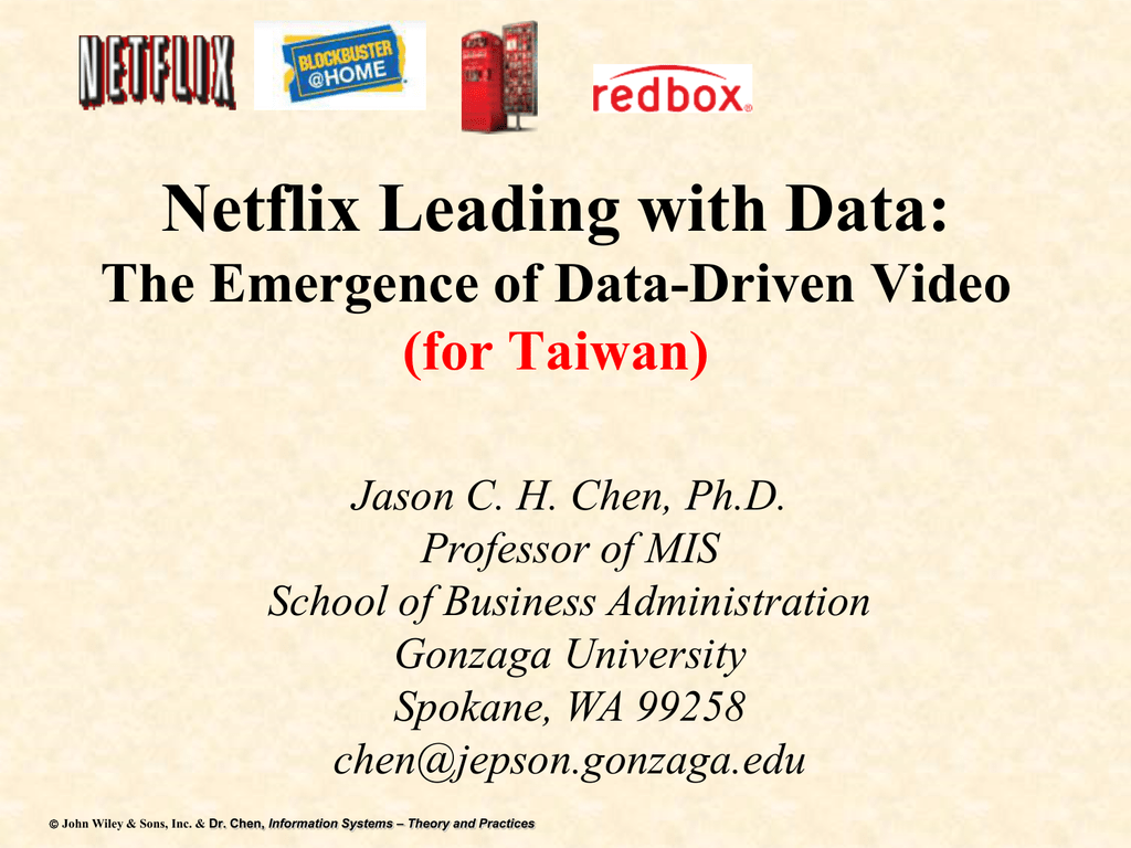 Netflix Leading With Data Mingchi