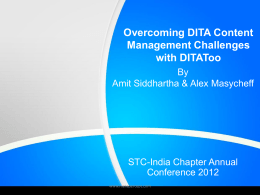 Overcoming DITA Content Management Challenges