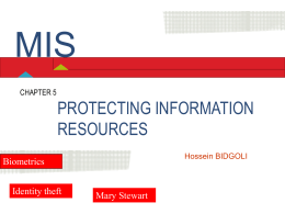 Chapter 5 Protecting Information Resources