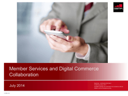 Member Services and Digital Commerce