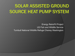 To Solar Assisted Ground Source Heat Pump Power