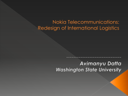 Nokia Telecommunications: Redesign of International Logistics