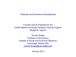 Lecture 5 - United Nations University Fisheries Training Programme