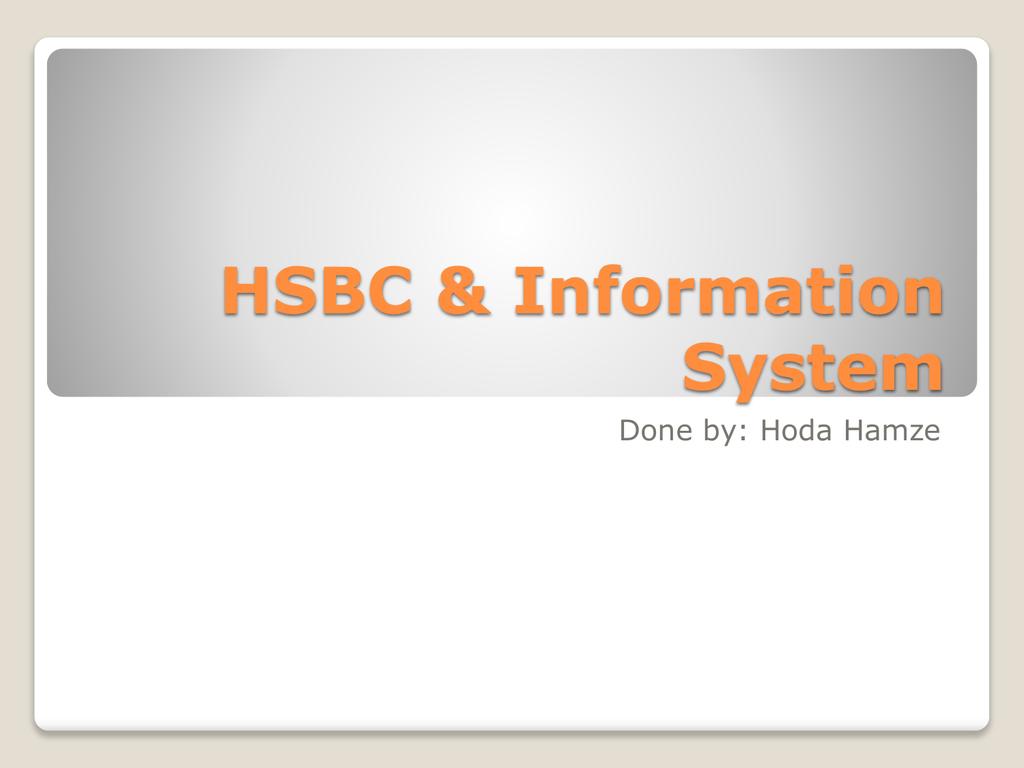 sistem e-perdagangan hsbc