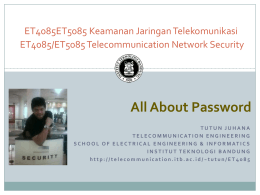 All About Password - Catatan Hasdi Putra