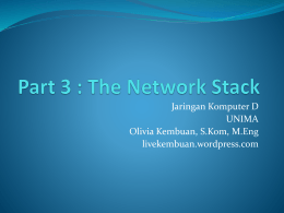 Part 3 : The Network Stack