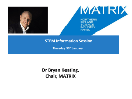 Bryan Keating - Matrix - Department for Employment and