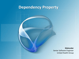 Dependency Property