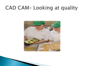 CAD CAM - Food prep sheet 2011