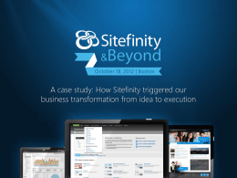 A case study - how Sitefintiy triggered our business transformation