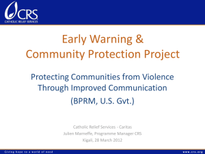 Early warning and community protection