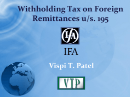 Title of the Presentation - International Fiscal Association (IFA