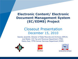 Electronic Data Content Management
