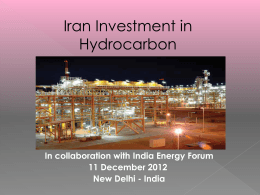 Iran Investment in Hydrocarbon