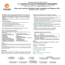 (RGI-TRPCS-12) Date - GH Raisoni College Of Engineering And
